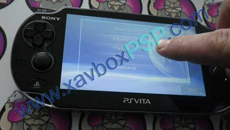 demarrage ps vita